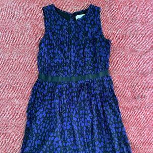 LOFT black and purple sleeveless dress